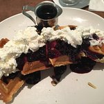 White Spot's Berry Waffle
