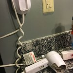 Guests shouldn't have to find shock hazard-hair burning damaged hair dryer in room!