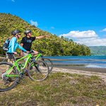 Mountain Biking the Queen Charlotte Track at Davies Bay