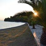 la plage au coucher de soleil