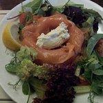 Smoked salmon with a horse radish cream