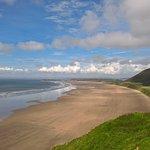 Llangennith beach a 5 minute walk from campsite