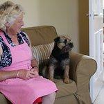 Rita and her adorable dog, Polly