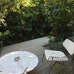 terrasse villa, 4m2 sans aucun dégagement