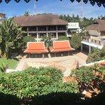Hotel vom Balkon