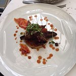 Aiguillettes de canard - polenta - tomates confites
