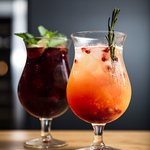 Our homemade white and red sangria