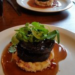 Black pudding stack with bacon mash :-)