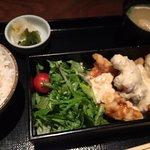 Fried chicken lunch set