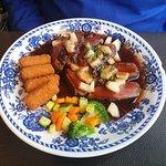Magret de canard aux légumes