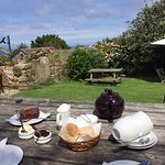 Cream tea with scones and cake (all homemade, very good!)