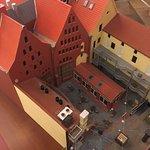 Scheelehof als Modell Sicht Innenhof