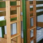 Comfortable bunk beds.