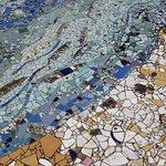 Part of a mosaic in the external sculpture grounds