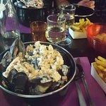 Moule suedoise (saumon fumé,echalotte,creme ,vin)!!hum un delice