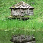 A duck house in the grounds