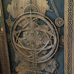 Game of Thrones door at The Cuan- (carved from one of the fallen 'Dark hedges')
