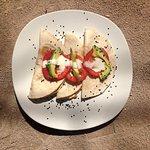 Quesadillas servis au petit déjeuner