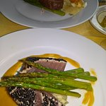 filet mignon (far dish) and seared tuna entree