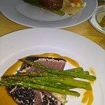 filet mignon (far dish) and seared tuna entree