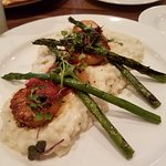 Scallops with risotto & asparagus