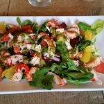 Refreshing crayfish salad starter