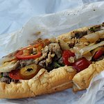 wit mayo, provolone, mushrooms, onions and hot peppers