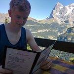 Eat outside. AMAZING views!