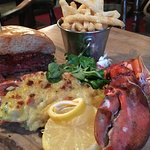 Gourmet Burger & Lobster Thermidor. Our most popular special