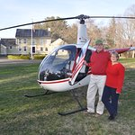 Guests Arrived via Helicopter at the B&B