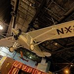 Replica of The Spirit of St Louis used for the flying scenes in the movie with James Stewart