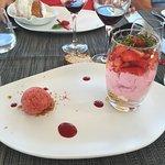 Dessert autour de la fraise