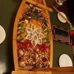 A boat of sushi treats