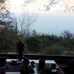 El placer de desayunar con esa increíble vista....