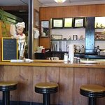 Counter seating and classic diner fare