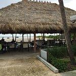 Tiki Hut beside Bar Area