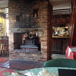 Log fire and breakfast bar