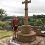 The cross in Thorncombe churchyard