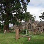 Thorncombe church adjacent village shop