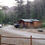 Our cabin at Absaroka had 2 queens and a full. Perfect for 5.