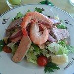 salade gourmande terre mer