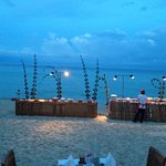 BBQ night on the beach, organized by the resort.