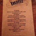 The Truffle-themed menu