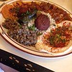 Vegan plate- delicious!!