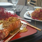 Our wedding dinner. Vic and Sam suggested the special ..Coconut Lobster...it was AMAZING! !! The