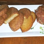 Half order Steak Tartare with rye bread toast