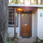 Nice cabin tucked off the Avenue, Big Redwoods right outside the door.