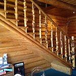 Handmade burl wood railings...