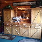 This is the handmade breakfast hutch, ingenious design when set-up for breakfast...