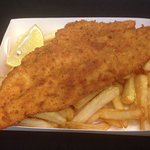 Delicious crumbed snapper and chips